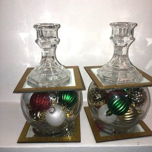 Christmas craft candle holders